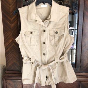 Light Khaki Travel-inspired Vest